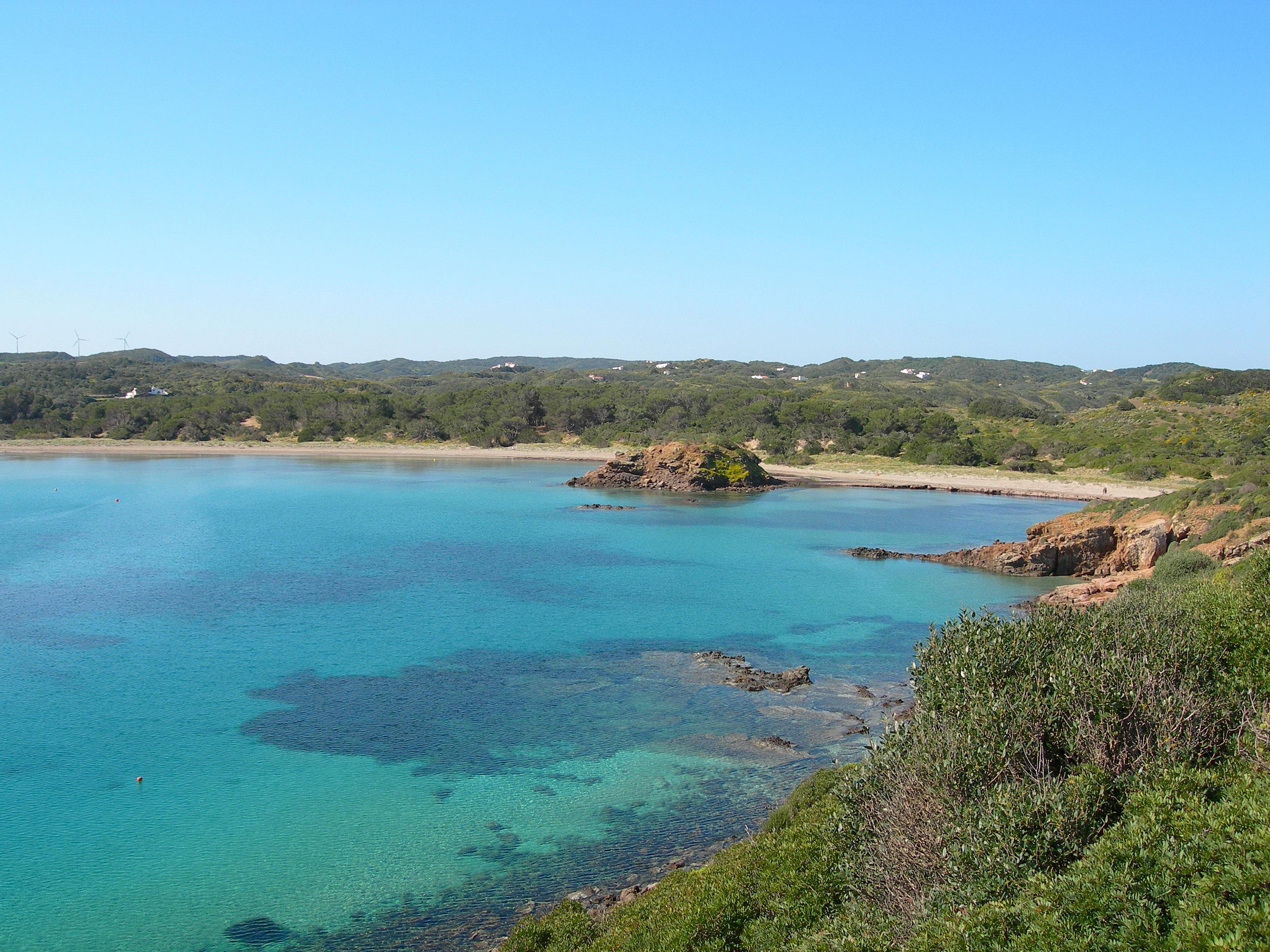 Foto playa Cala Tamarells. Es Grao. Mahón. Menorca Island