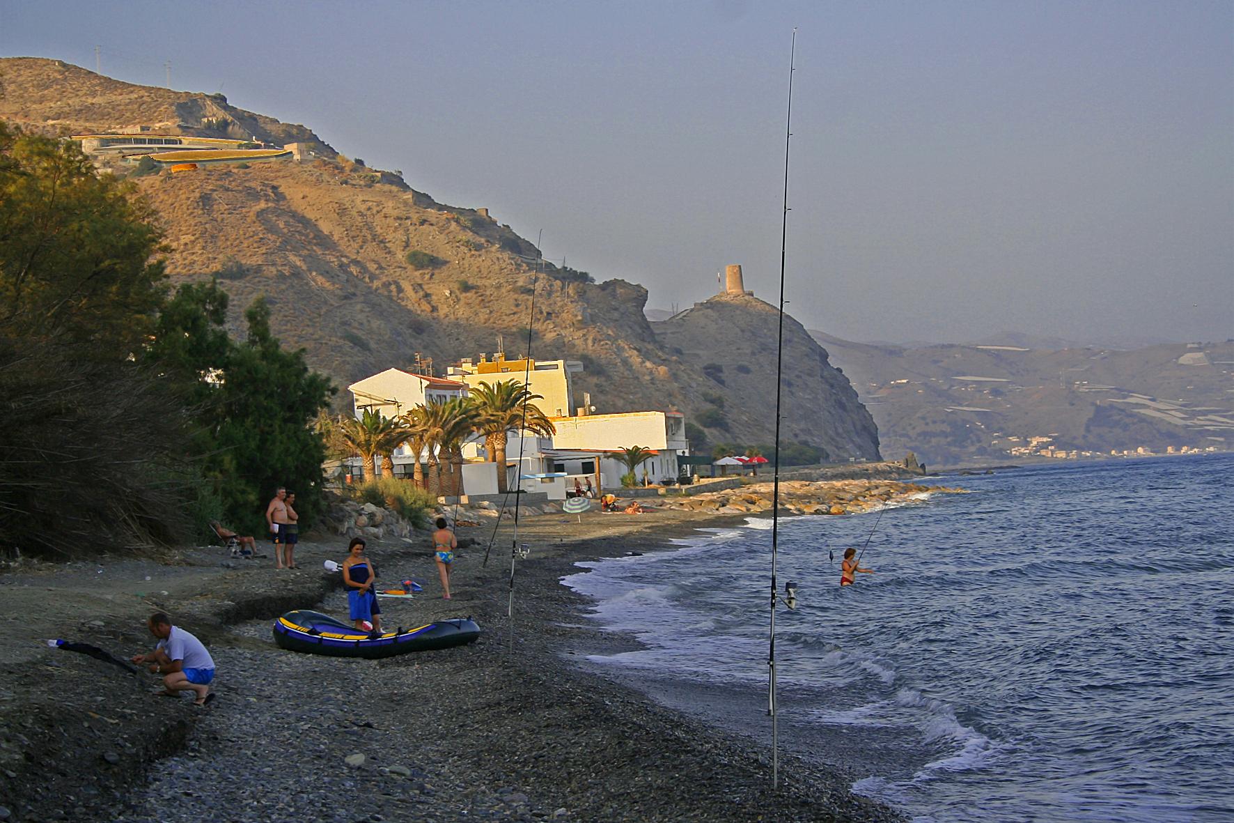 Foto playa Castillo de Baños. Playa de Castillo de Baños (Granada).