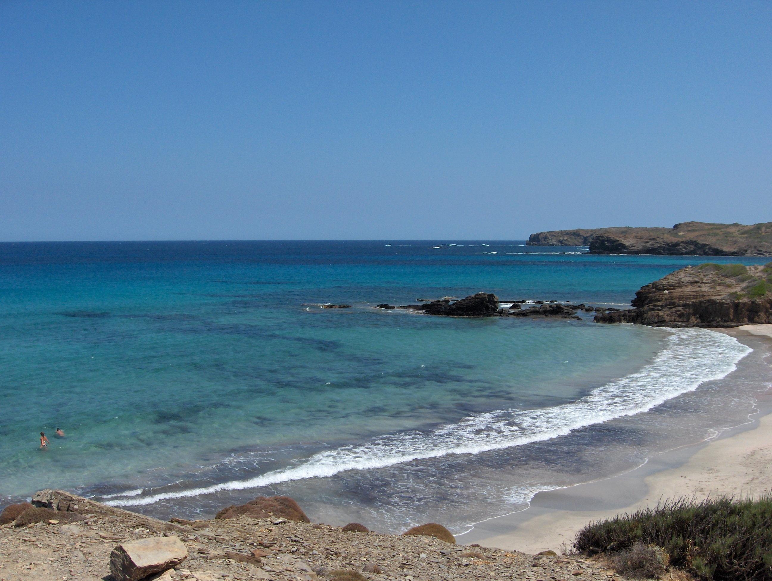 Foto playa Capifort. Cala Presili