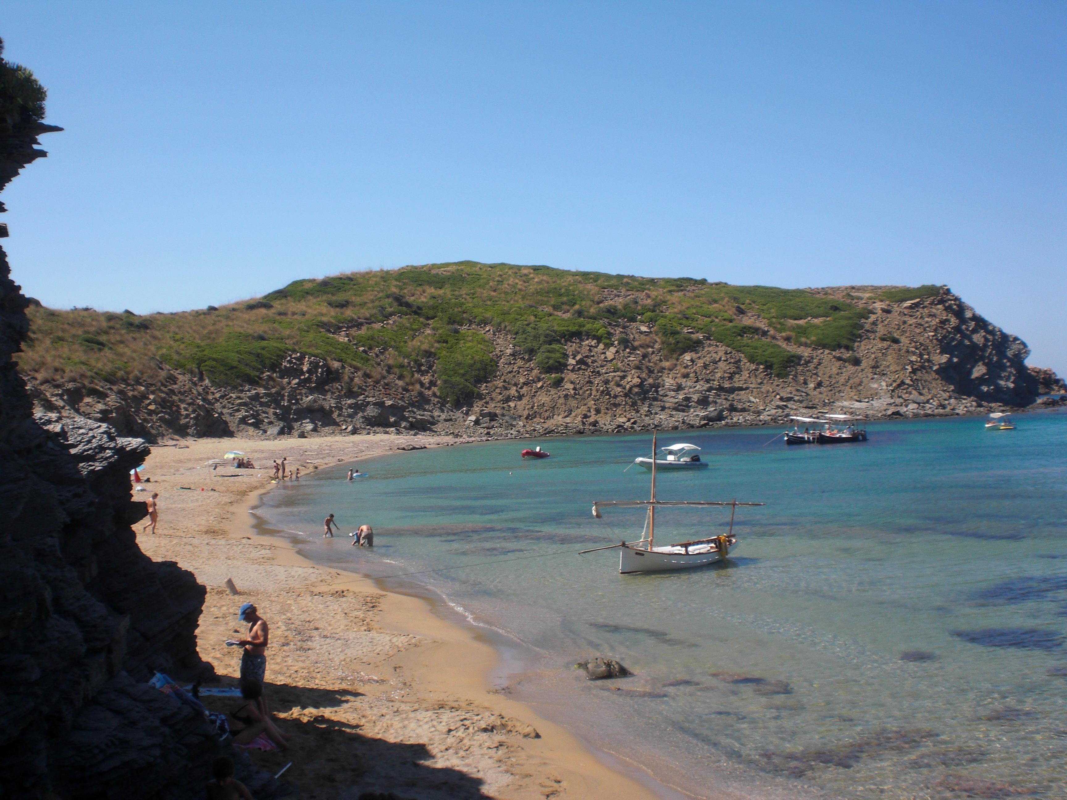 Foto playa Cala Caldés. sarenal
