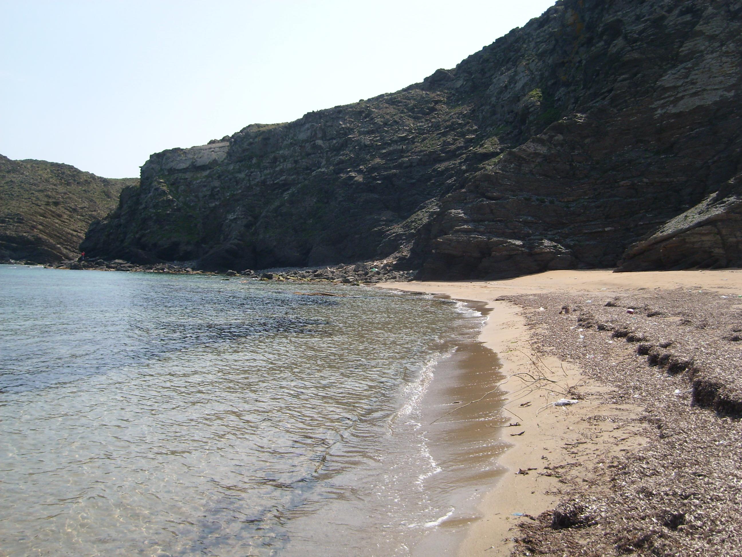Foto playa Cala Caldés. S´arenalet