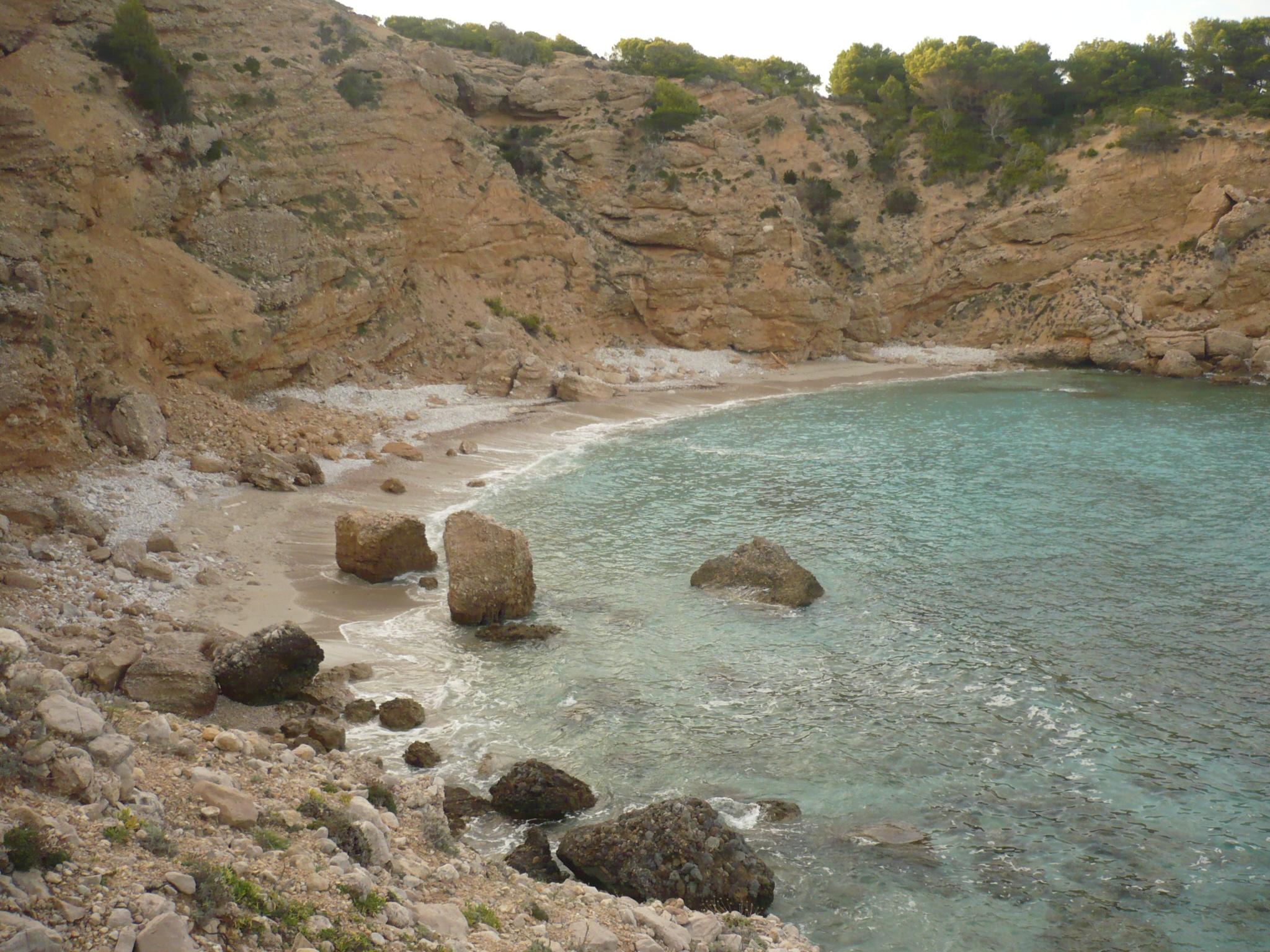 Foto playa Cala Pudent. es macar de sa llosa