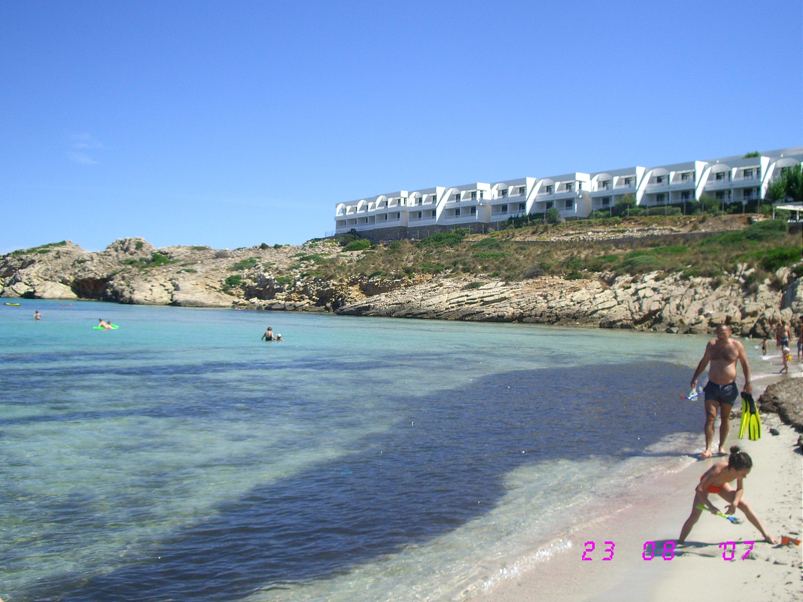 Foto playa Cala Pudent. Vista del Beach Club