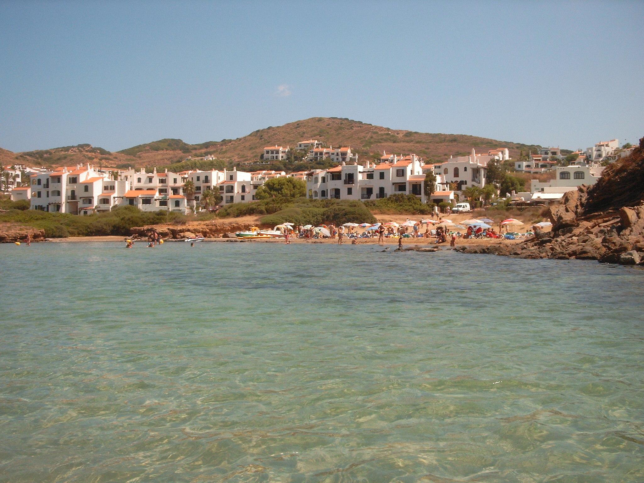 Foto playa Platja Gran. mirada desde abajo